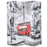 vidaXL kokkupandav sirm 160 x 170 cm, Londoni buss, must ja valge