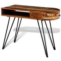 vidaXL laud taastatud puidust rauast jalgadega
