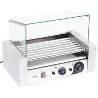 vidaXL 7 hot dogi grill klaaskattega, 1400 W