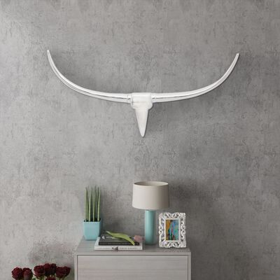 Seinale kinnitatav alumiiniumist dekoratiivne pullipea, hõbedane, 96 cm