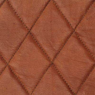 vidaXL tugitool, pruun, ehtsast nahast, Brown