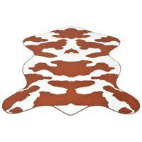 vidaXLi vaip 70 x 110 cm pruuni lehmamustriga