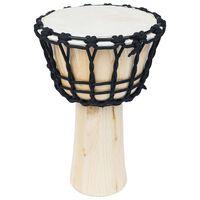 vidaXL džembe trumm nöörpingutitega 25 cm, kitsenahk