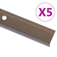 vidaXL trepikaitsmed L-kujulised 5 tk, alumiinium, 100 cm, pruun