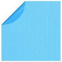 vidaXL ujuv ümar päikeseenergiat kasutav basseinikile, 455 cm, sinine