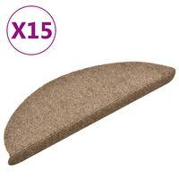 vidaXL isekleepuv trepivaip 15 tk, kreemjas, 56x17x3 cm, aastehnika