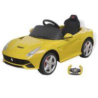 """vidaXLi pealeistutav auto """"Ferrari F12"""" kollane 6 V kaugjuhtimispuldiga"""