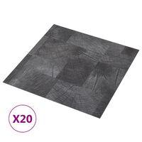 vidaXL iseliimuvad põrandaplaadid 20 tk, PVC, 1,86 m², puidu tekstuur