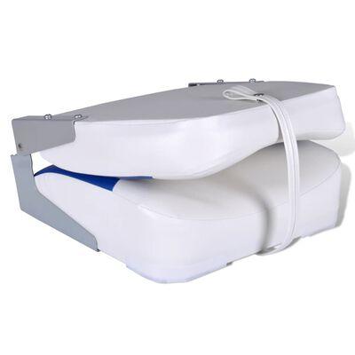 vidaXL paadiistmed 2 tk kokkupandav tugi sinivalge padi 41x36x48 cm ,