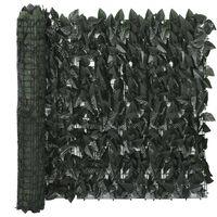 vidaXL rõdusirm, tumerohelised lehed, 400 x 75 cm