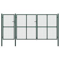 vidaXL aiavärav, teras, 400 x 200 cm, roheline