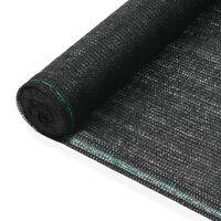 vidaXL tenniseväljaku võrk, HDPE, 1,4 x 25 m, must