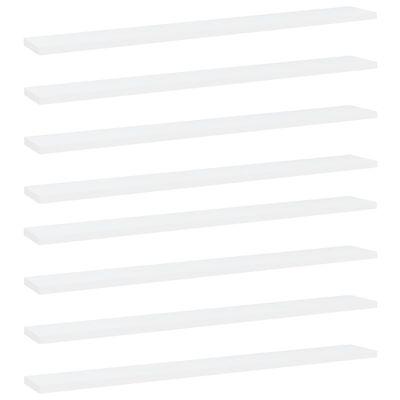 vidaXL riiuliplaadid 8 tk, valge, 80x10x1,5 cm, puitlaastplaat