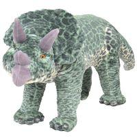 vidaXL seisev dinosaurus, plüüs, roheline XXL