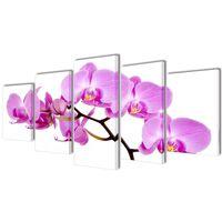 Seinamaalikomplekt orhideega, 100 x 50 cm