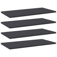 vidaXL riiuliplaadid 4 tk, hall, 60x30x1,5 cm, puitlaastplaat