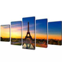 Seinamaalikomplekt Eiffeli torniga, 100 x 50 cm
