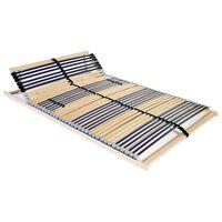vidaXL voodi aluspõhi, 42 liistu, 7 piirkonda, 100 x 200 cm