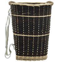 vidaXL küttepuude seljakott kanderihmadega 50x44x58 cm naturaalne paju