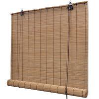 vidaXL ruloo, bambus 100 x 220 cm, pruun