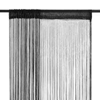 vidaXL nöörkardinad 2 tk, 140 x 250 cm, must