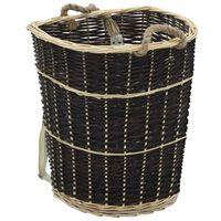 vidaXL küttepuude seljakott kanderihmadega 57x51x69 cm naturaalne paju