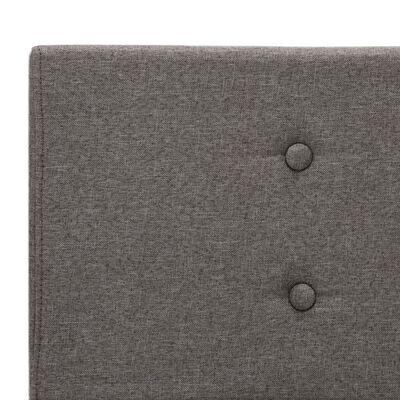 vidaXL voodiraam, pruunikashallist kangast, 160 x 200 cm