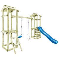 vidaXL mängumaja redeli, liumäe ja kiigega, 300x197x218 cm, puit