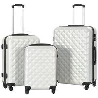 vidaXL kõvakattega kohvrid 3 tk, särav hõbedane, ABS