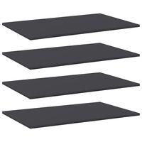 vidaXL riiuliplaadid 4 tk, hall, 80x50x1,5 cm, puitlaastplaat