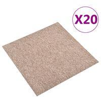 vidaXL põranda plaatvaibad 20 tk, 5 m², 50 x 50 cm, beež