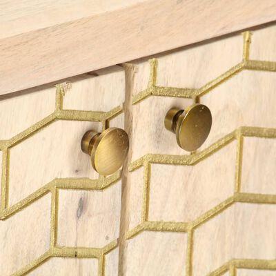 vidaXL puhvetkapp, kuldne, 120 x 30 x 75 cm, toekas mangopuit
