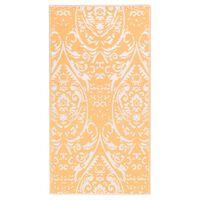 vidaXL õuevaip, oranž ja valge, 160 x 230 cm, PP