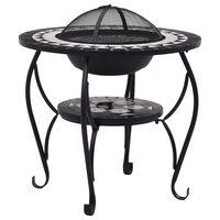 vidaXL tuleasemega laud, must ja valge, 68 cm, keraamiline