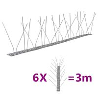 vidaXL 4-realine roostevabast terasest linnupiigid, 6 tk, 3 m