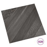 vidaXL iseliimuvad põrandaplaadid 20 tk, PVC, 1,86 m², triibuline hall