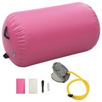 vidaXL täispumbatav võimlemisrull pumbaga 100x60 cm PVC roosa