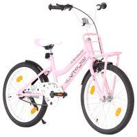 vidaXL laste jalgratas esipakiraamiga, 20'', roosa ja must