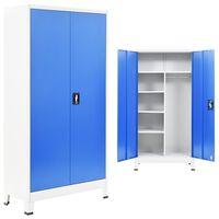 vidaXL hoiukapp 2 uksega, metall, 90 x 40 x 180 cm, hall ja sinine
