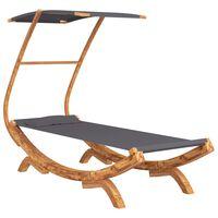 vidaXL katusega võrkkiik, 100x198x150 cm, painutatud puit, antratsiit