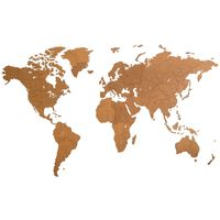 "MiMi Innovations puidust seina maailmakaart, ""Giant"" pruun, 280x170 cm"