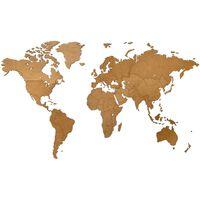 """MiMi Innovations puidust seina maailmakaart, """"Luxury"""" pruun, 130x78 cm"""