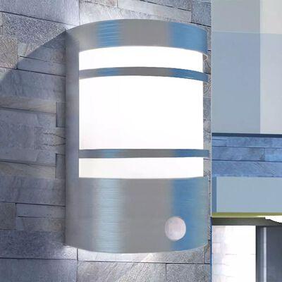 vidaXL anduriga õue seinavalgusti, roostevaba teras