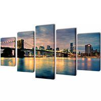 Seinamaalikomplekt Brooklyni silla ja jõega, 200 x 100 cm