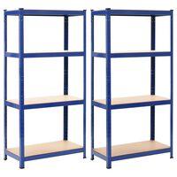 vidaXL hoiuriiulid 2 tk sinine, 80 x 40 x 160 cm teras ja MDF