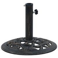 vidaXL päikesevarju alus, must ja pronks, 9 kg 40 cm, malm