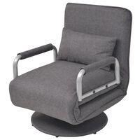 vidaXL pöörlev tool ja diivanvoodi, tumehall, kangas