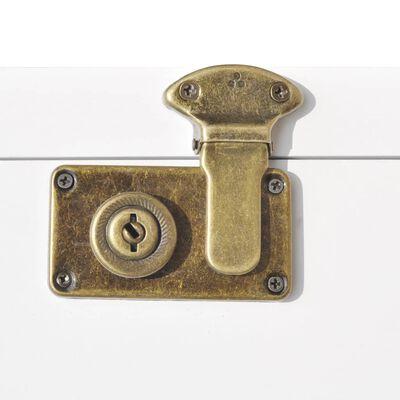 vidaXL kohvrikujuline kapp 40 x 30,5 x 81 cm valge