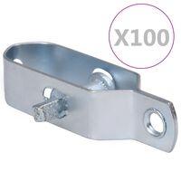 vidaXL piirdeaia pingutid 100 tk 100 mm terasest hõbedane