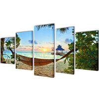 Seinamaalikomplekt võrkkiigega rannas, 200 x 100 cm